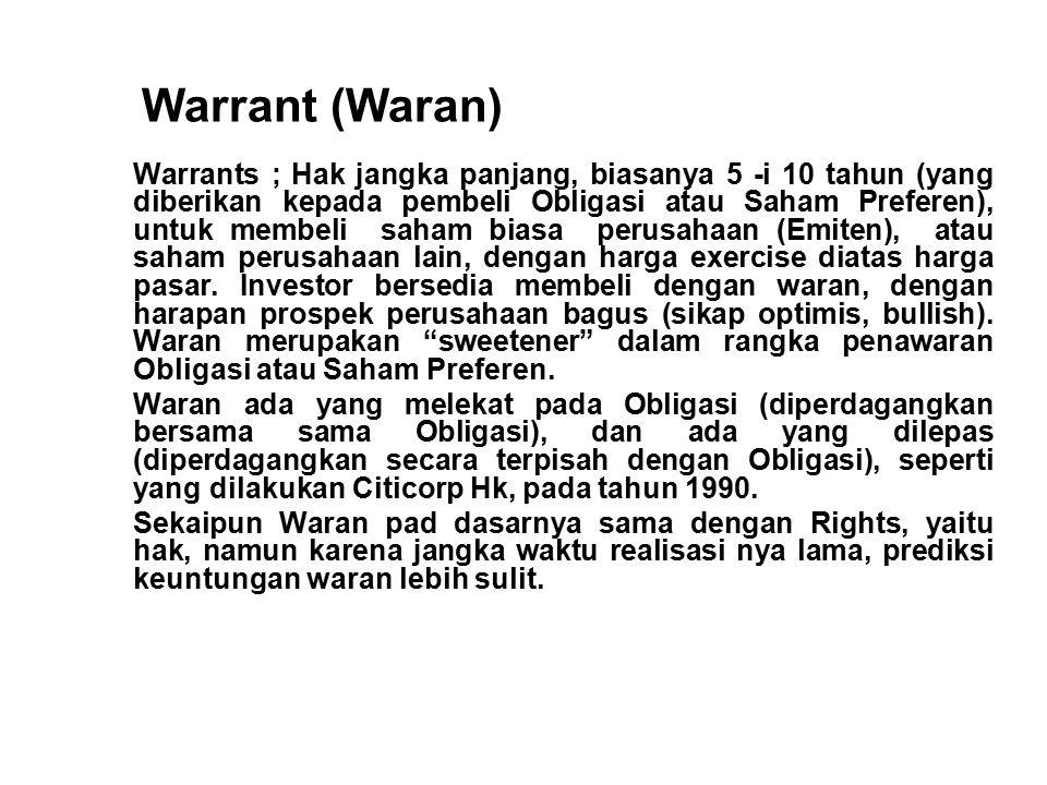 Warrant (Waran)