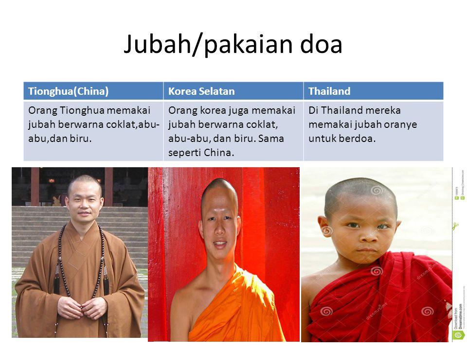 Jubah/pakaian doa Tionghua(China) Korea Selatan Thailand