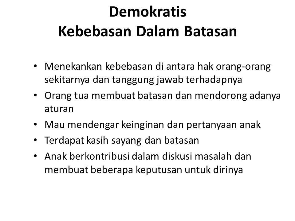 Demokratis Kebebasan Dalam Batasan