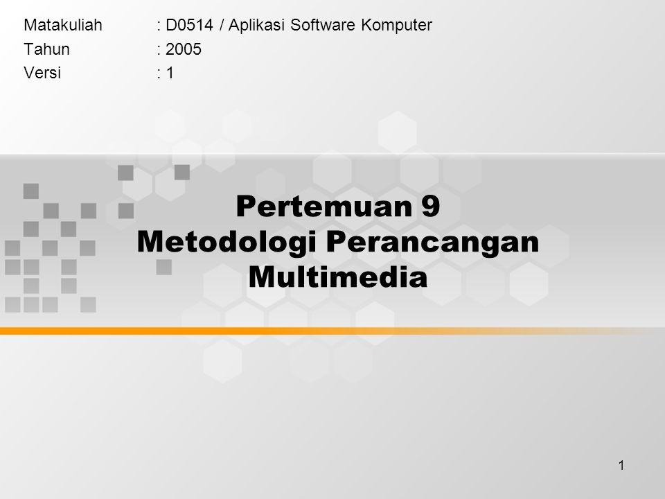 Pertemuan 9 Metodologi Perancangan Multimedia