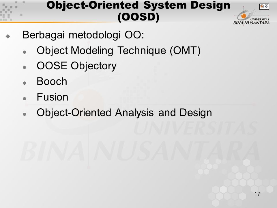 Object-Oriented System Design