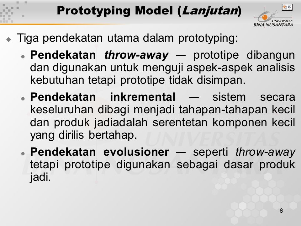 Prototyping Model (Lanjutan)