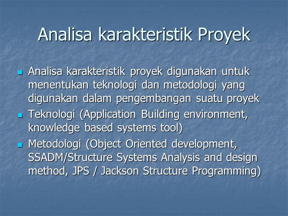 Analisa karakteristik Proyek