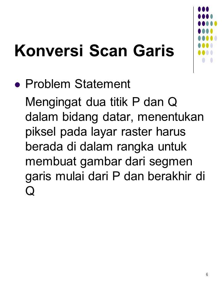 Konversi Scan Garis Problem Statement
