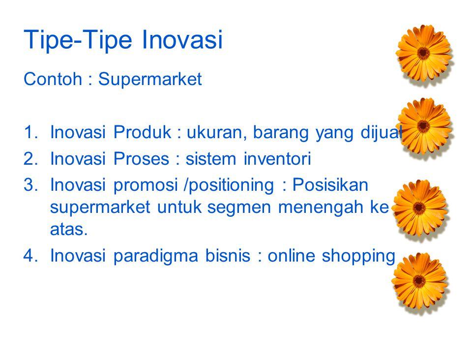 Tipe-Tipe Inovasi Contoh : Supermarket