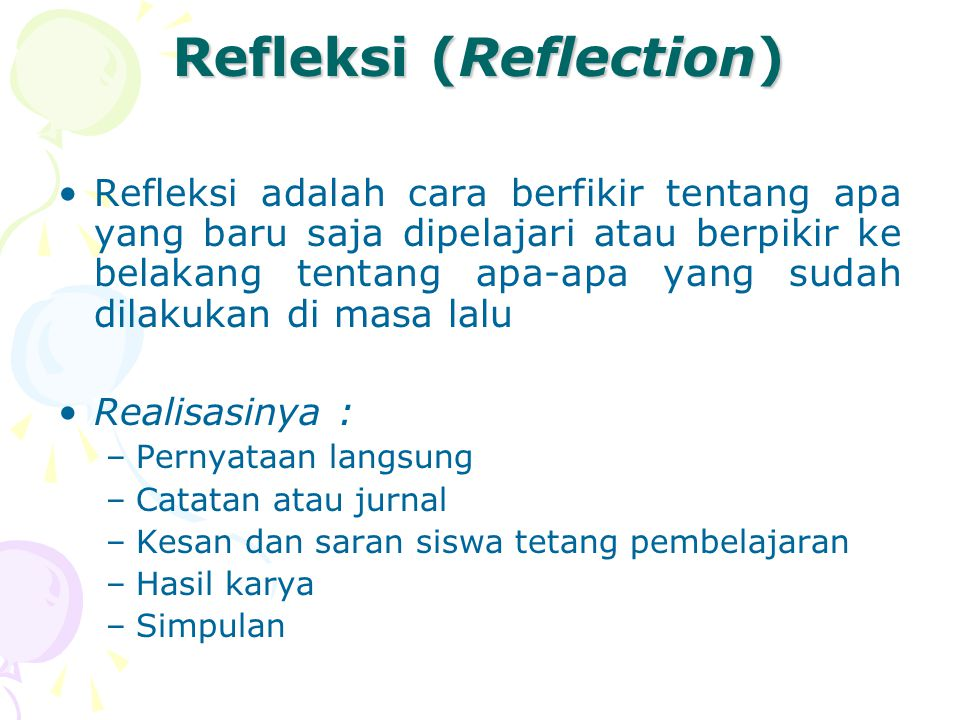 Refleksi (Reflection)