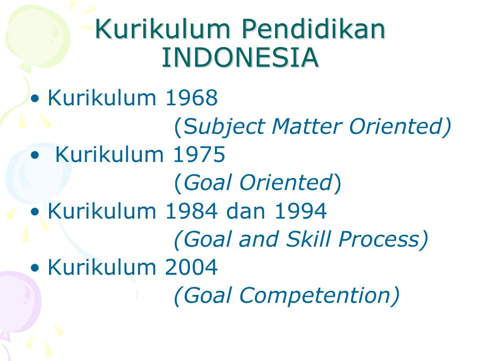 Kurikulum Pendidikan INDONESIA