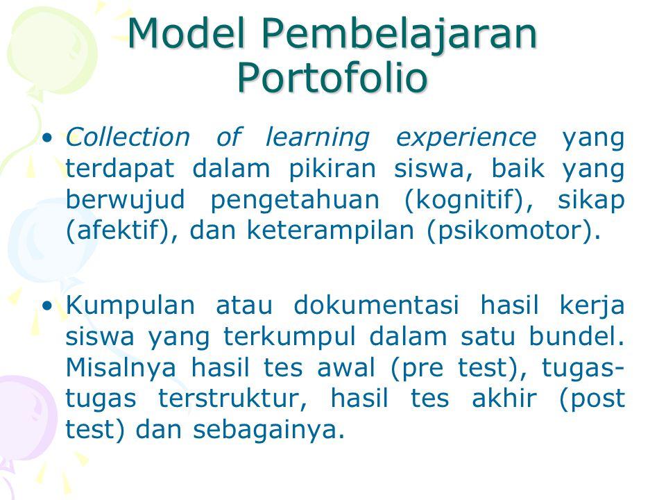 Model Pembelajaran Portofolio