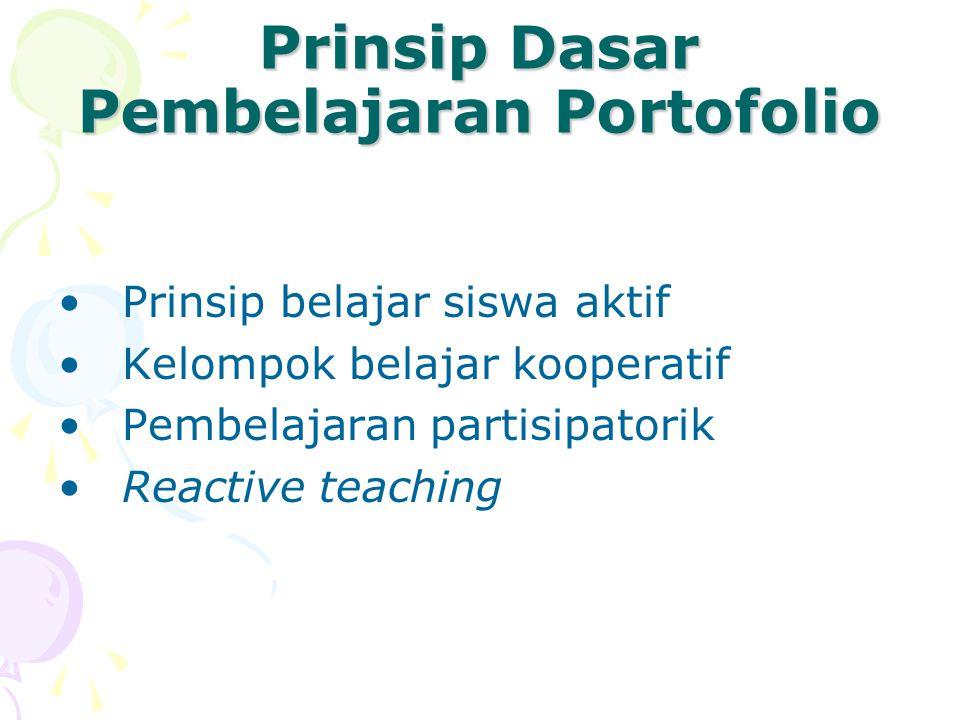 Prinsip Dasar Pembelajaran Portofolio