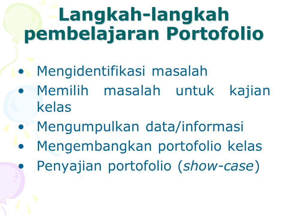 Langkah-langkah pembelajaran Portofolio