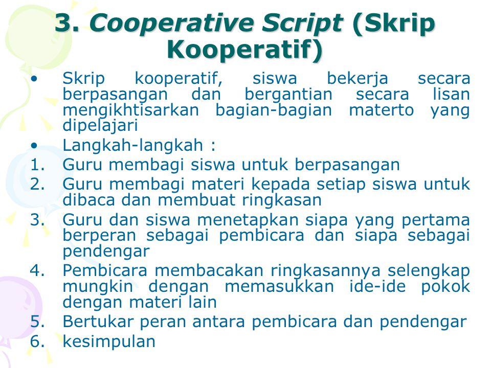 3. Cooperative Script (Skrip Kooperatif)