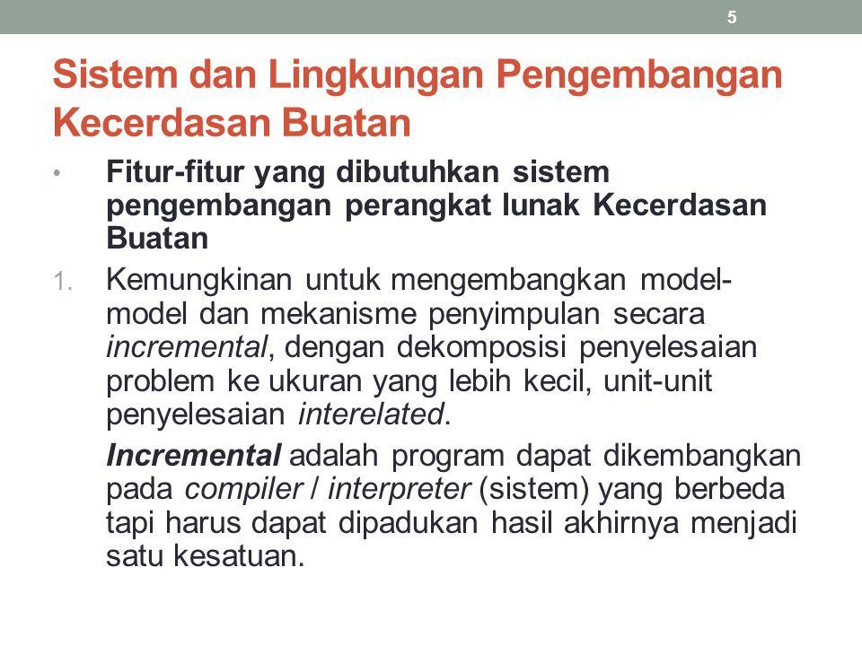 Sistem dan Lingkungan Pengembangan Kecerdasan Buatan