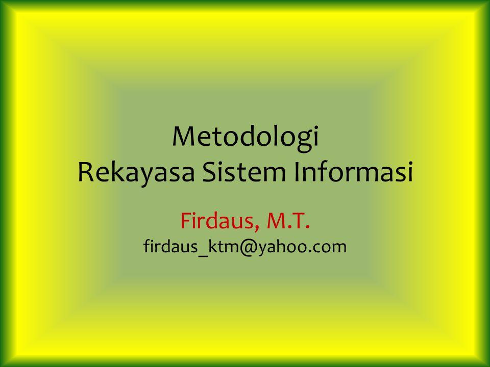 Metodologi Rekayasa Sistem Informasi