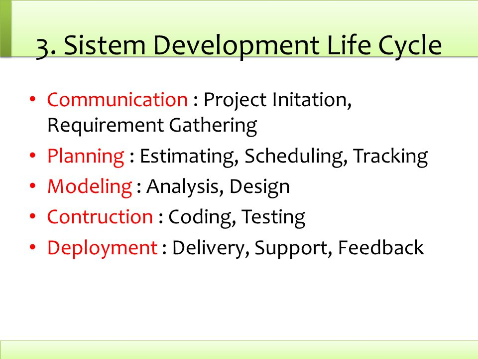 3. Sistem Development Life Cycle