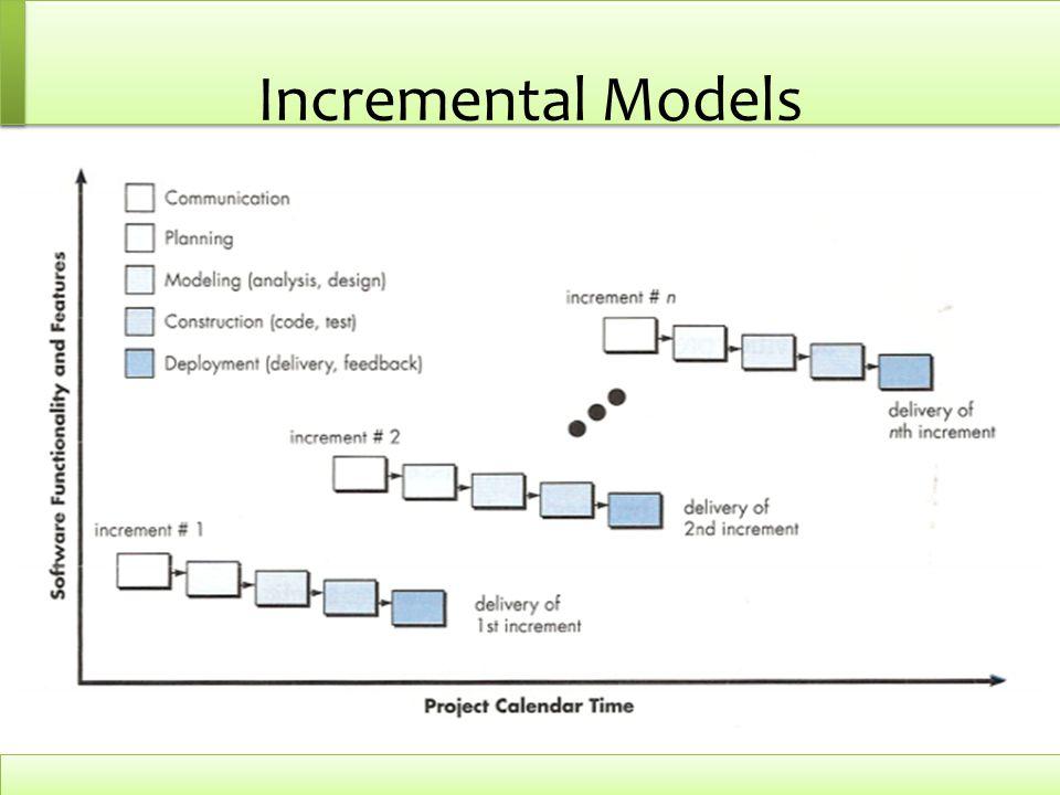 Incremental Models Increment : kenaikan