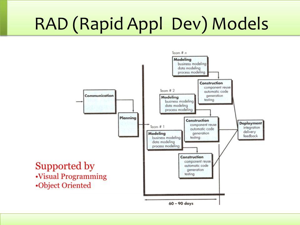 RAD (Rapid Appl Dev) Models