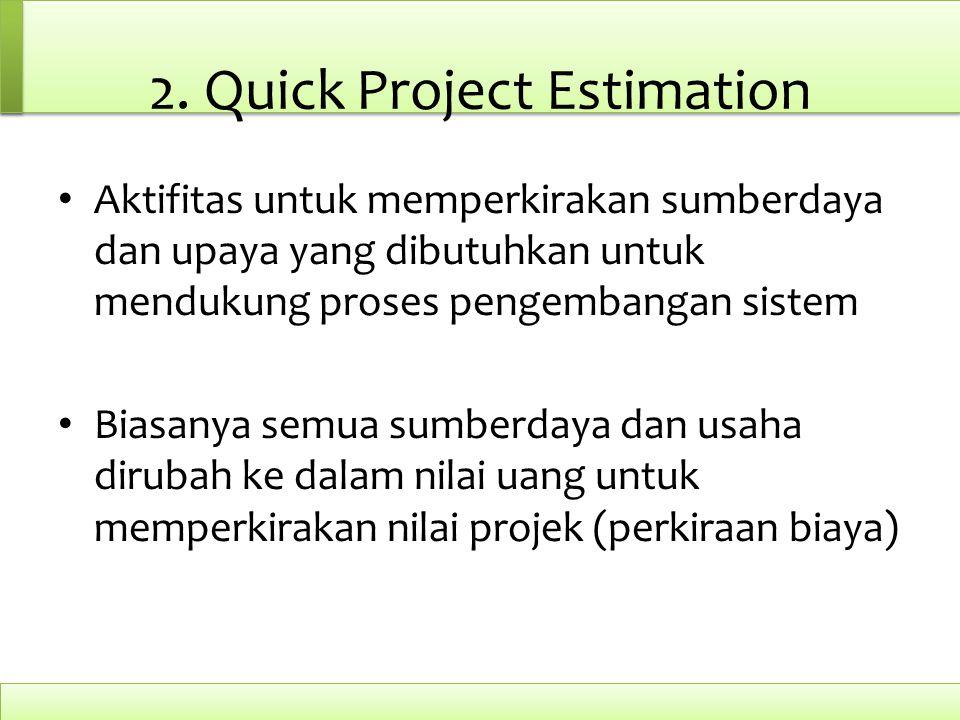 2. Quick Project Estimation