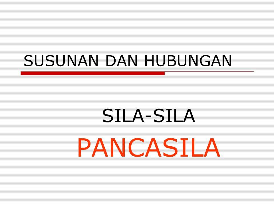 SUSUNAN DAN HUBUNGAN SILA-SILA PANCASILA