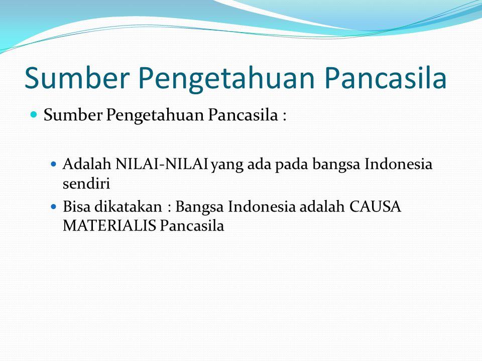 Sumber Pengetahuan Pancasila