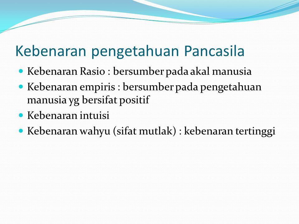 Kebenaran pengetahuan Pancasila