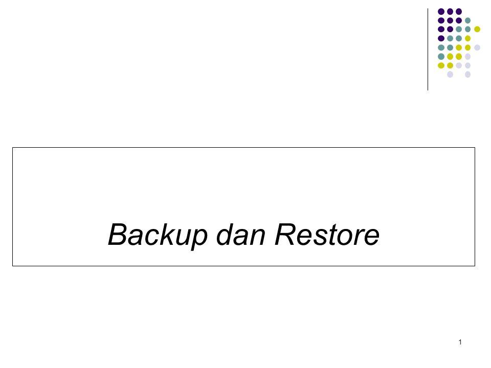 Backup dan Restore 1