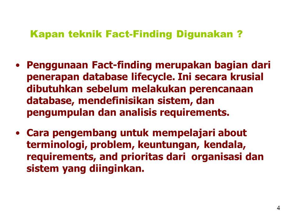 Kapan teknik Fact-Finding Digunakan