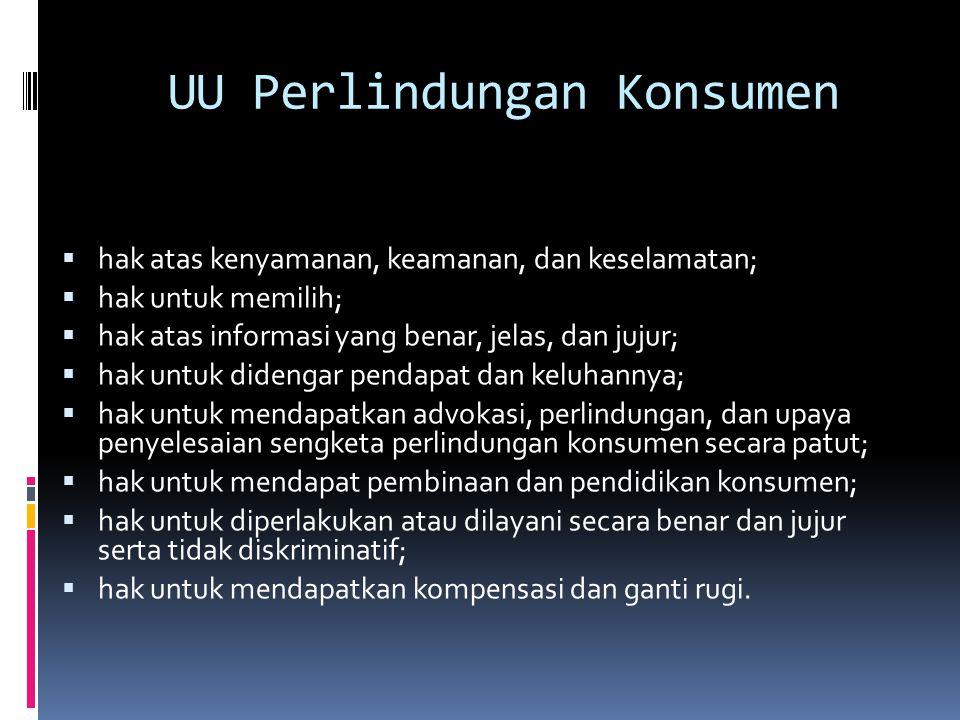 UU Perlindungan Konsumen