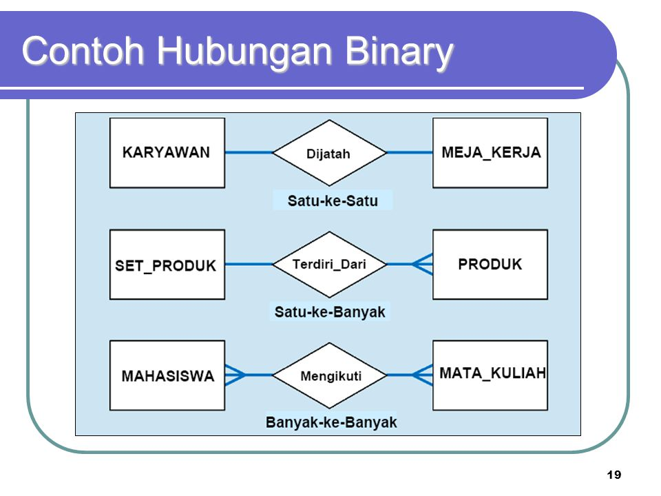 Contoh Hubungan Binary