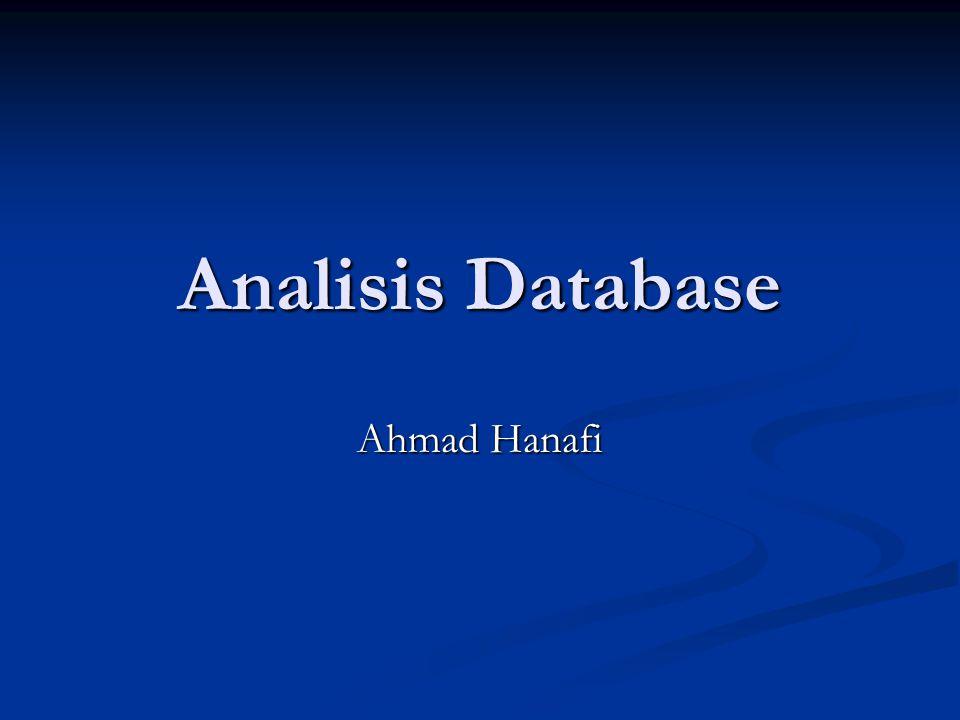 Analisis Database Ahmad Hanafi