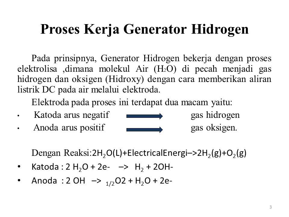 Proses Kerja Generator Hidrogen