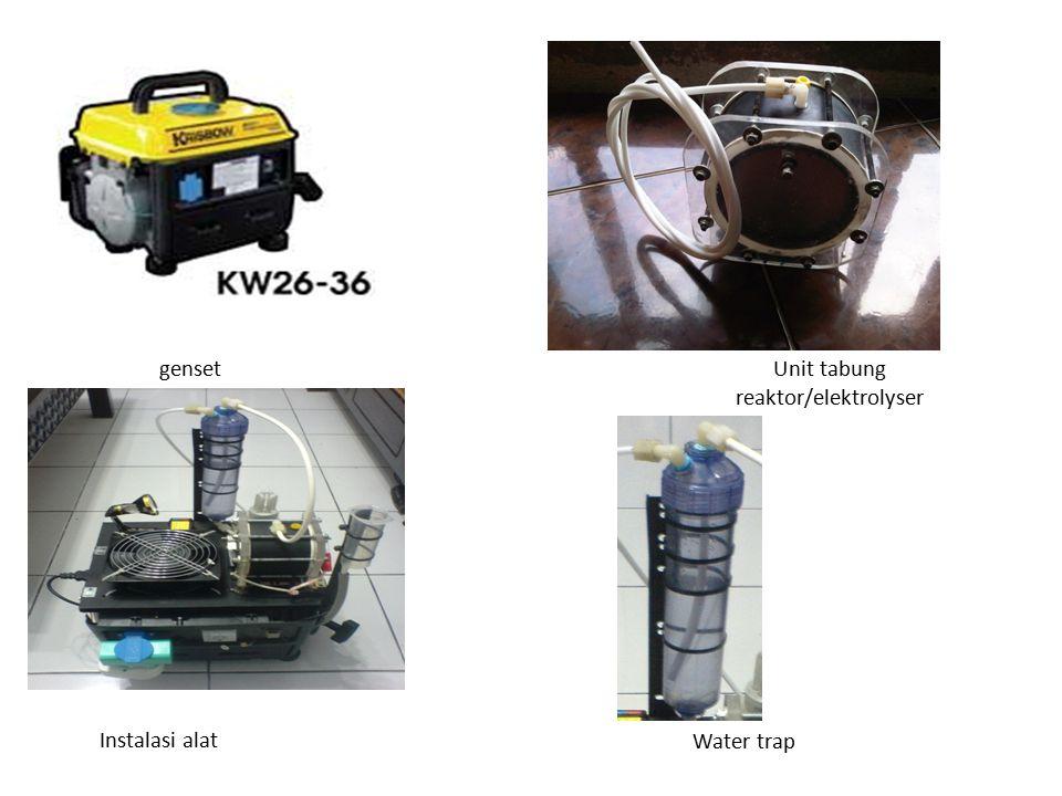 Unit tabung reaktor/elektrolyser