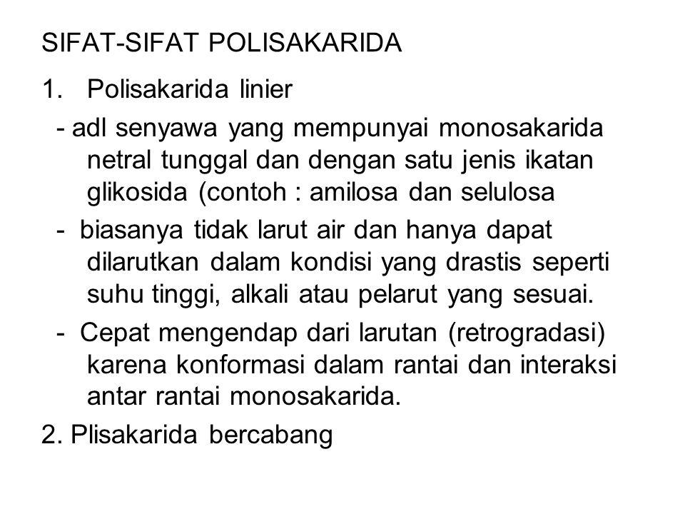 SIFAT-SIFAT POLISAKARIDA