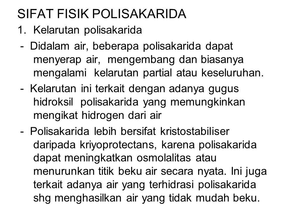 SIFAT FISIK POLISAKARIDA