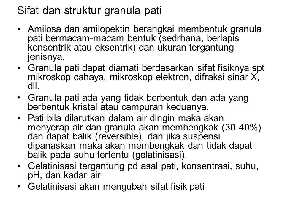 Sifat dan struktur granula pati