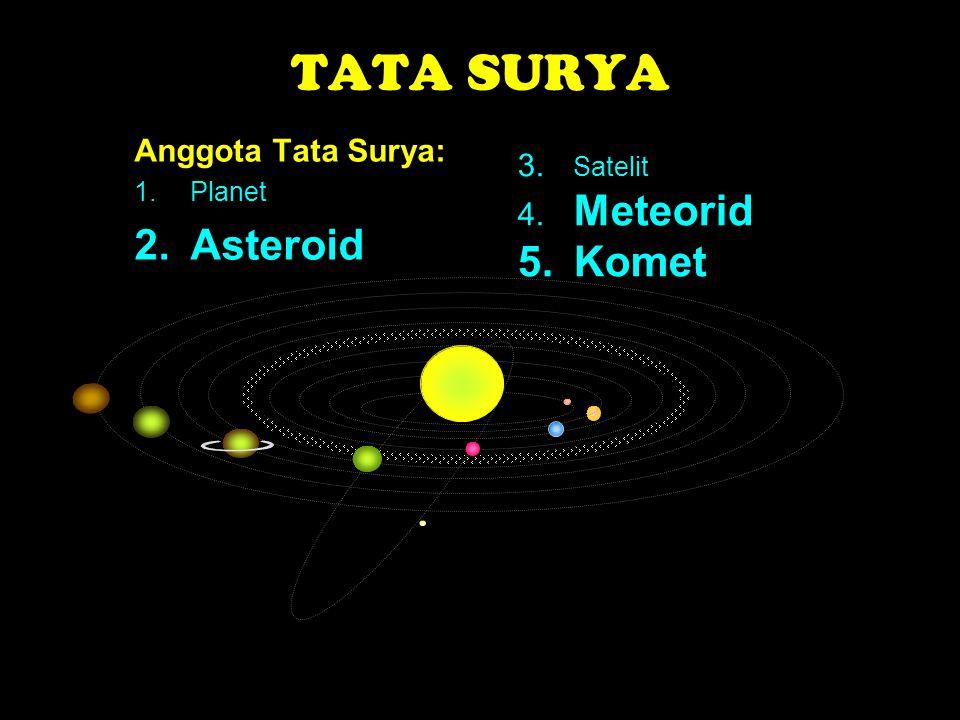 TATA SURYA Asteroid 5. Komet Anggota Tata Surya: 3. Satelit