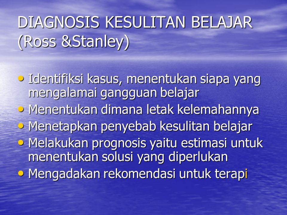 DIAGNOSIS KESULITAN BELAJAR (Ross &Stanley)