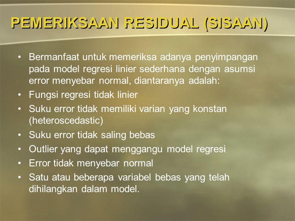 PEMERIKSAAN RESIDUAL (SISAAN)