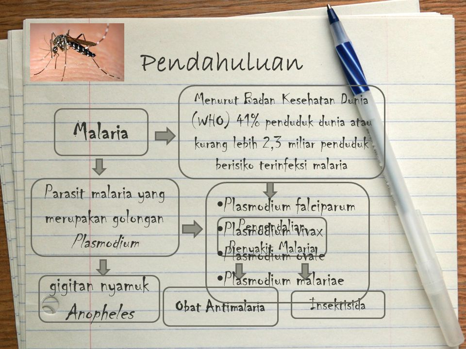 Pendahuluan Malaria gigitan nyamuk Anopheles