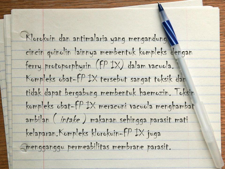 Klorokuin dan antimalaria yang mengandung