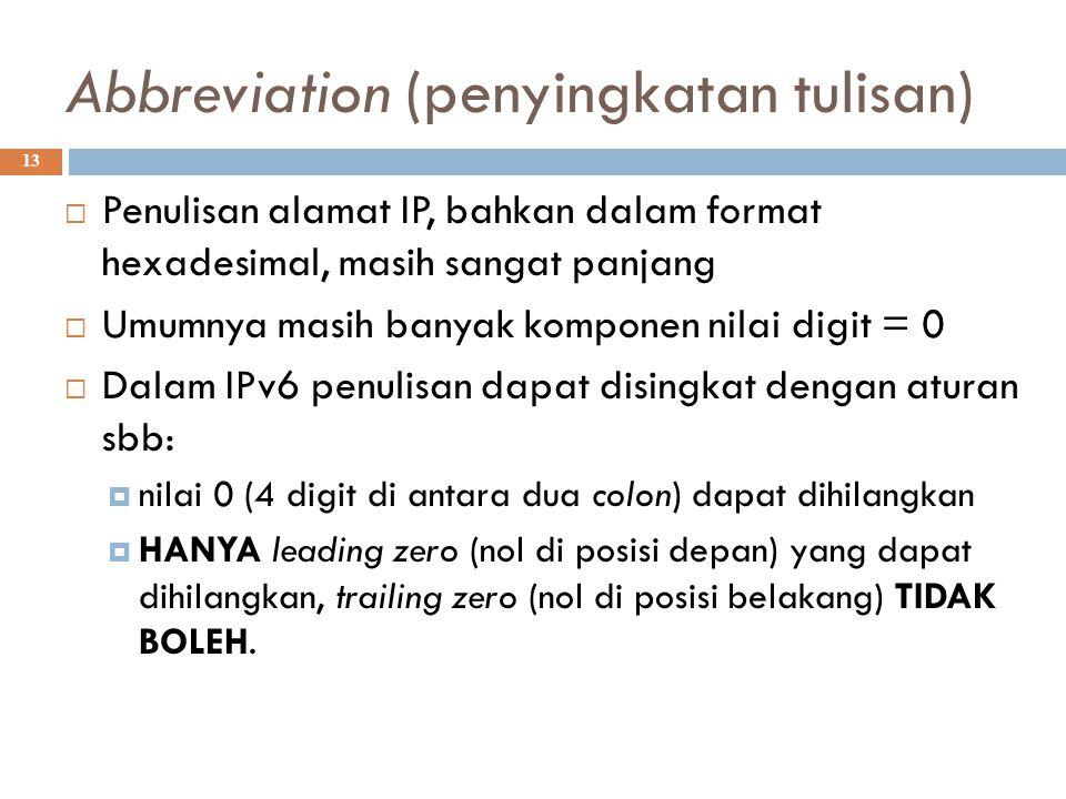 Abbreviation (penyingkatan tulisan)