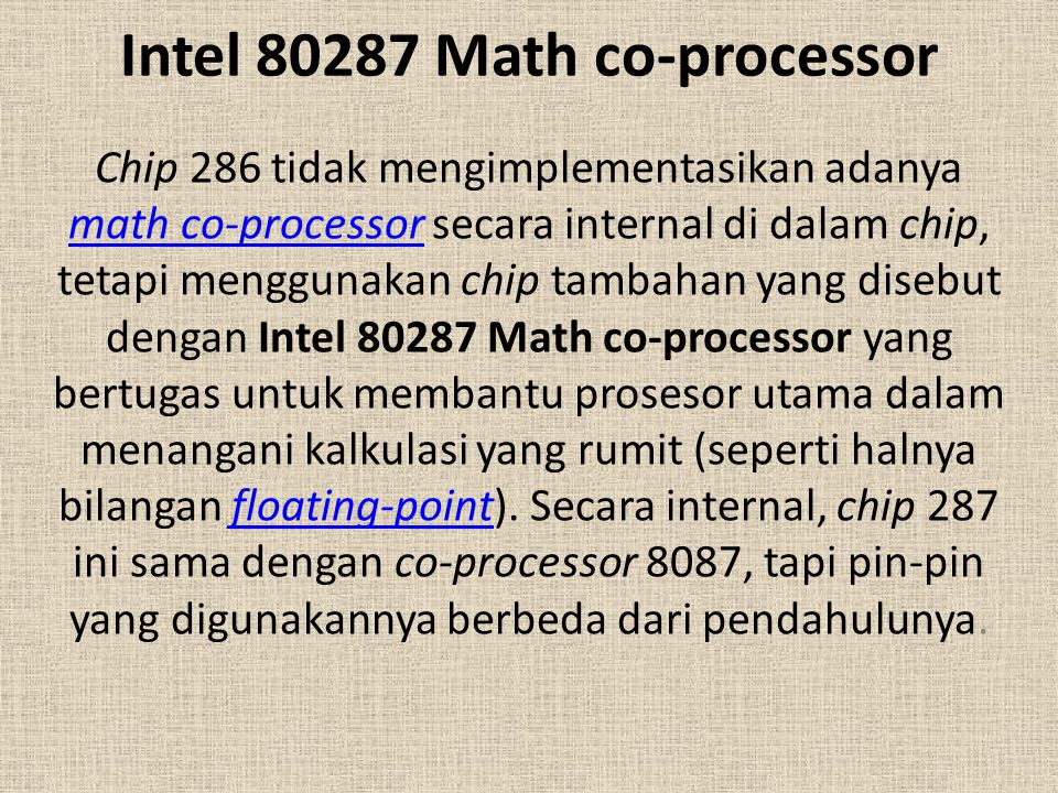 Intel 80287 Math co-processor