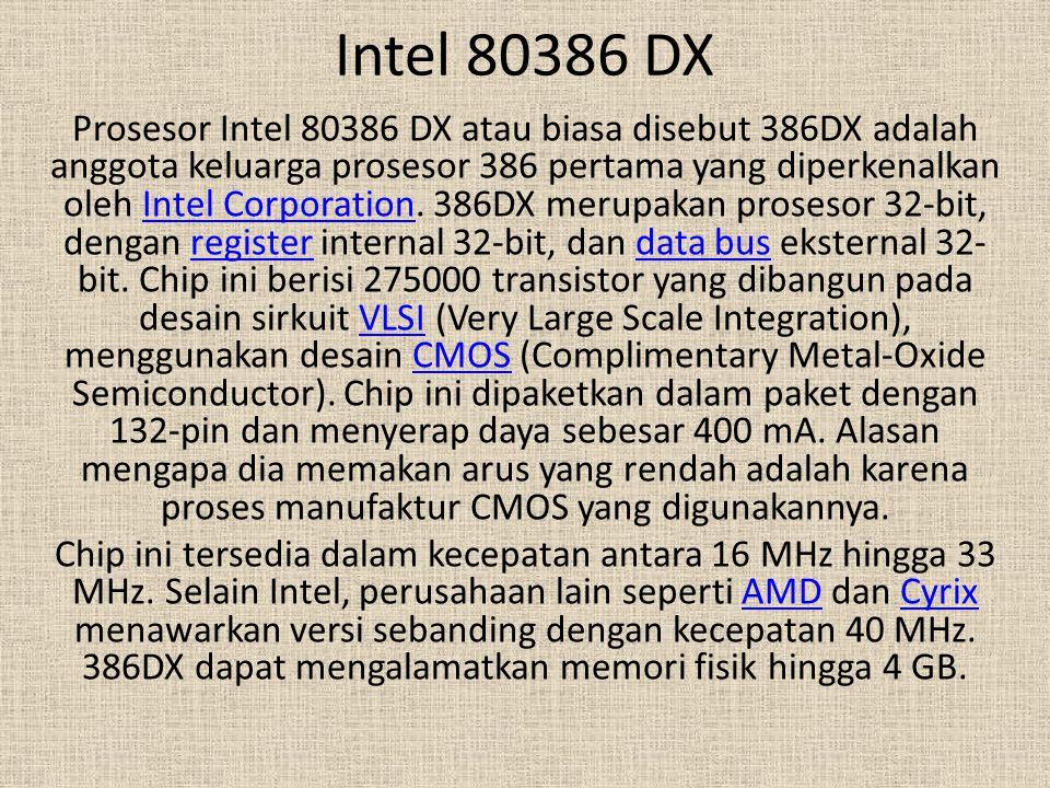 Intel 80386 DX