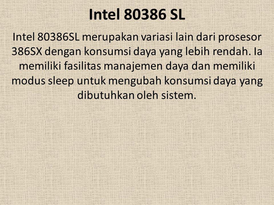 Intel 80386 SL
