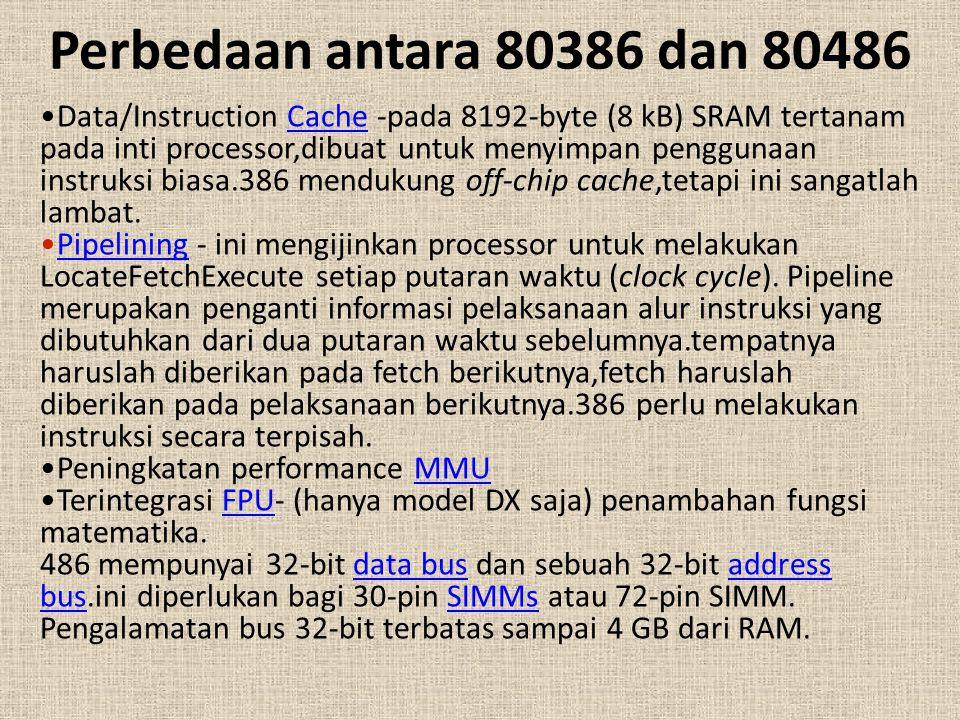 Perbedaan antara 80386 dan 80486