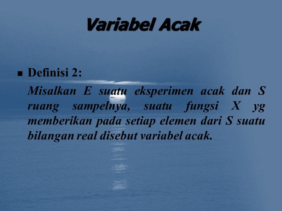 Variabel Acak Definisi 2: