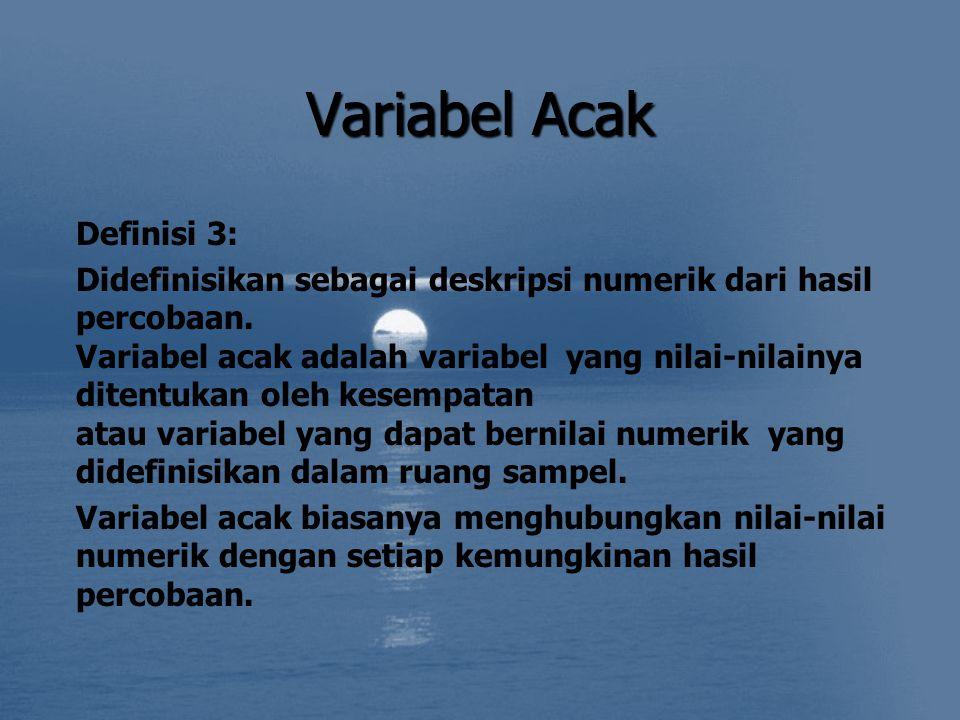 Variabel Acak Definisi 3:
