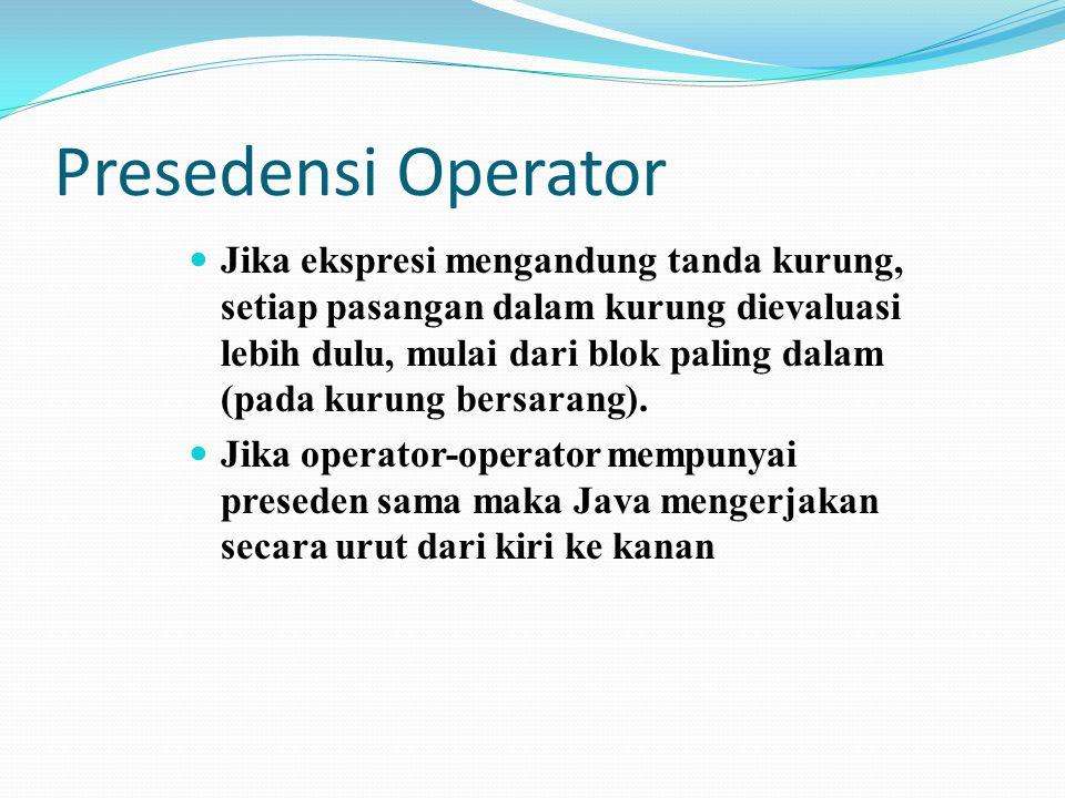 Presedensi Operator