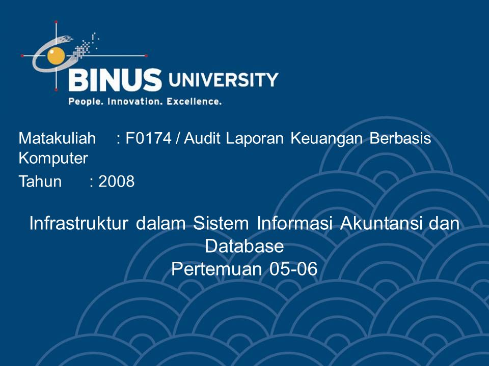 Matakuliah : F0174 / Audit Laporan Keuangan Berbasis Komputer
