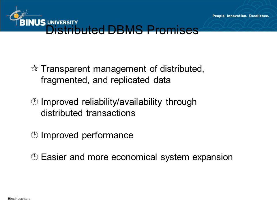 Distributed DBMS Promises