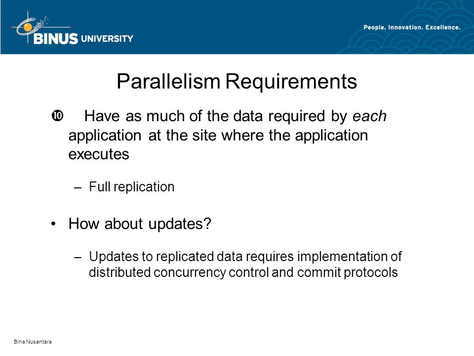 Parallelism Requirements